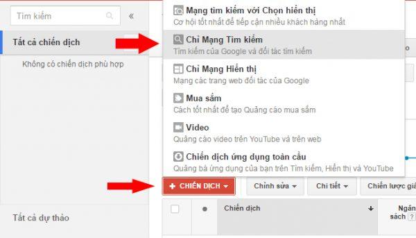 Bài 4: Tạo chiến dịch tìm kiếm AdWords cơ bản